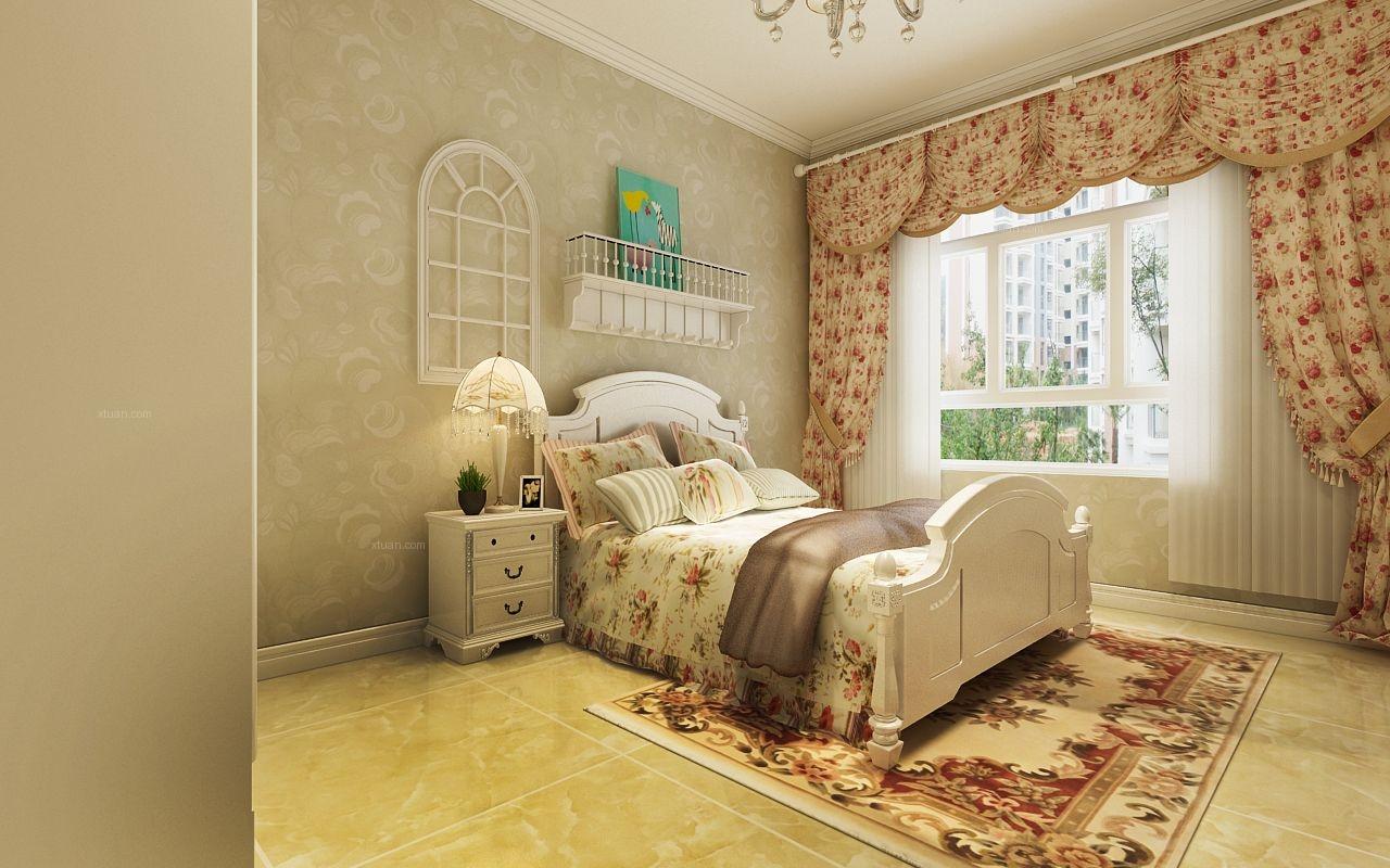 两室一厅简欧风格主卧室图片