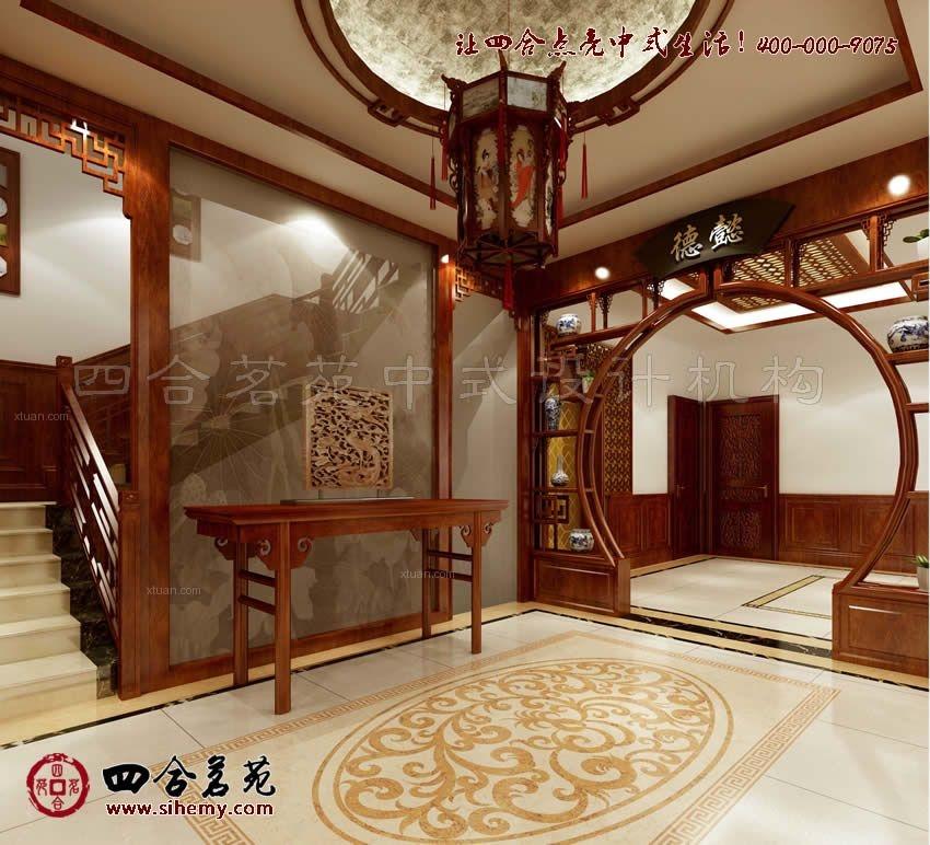 别墅中式风格玄关