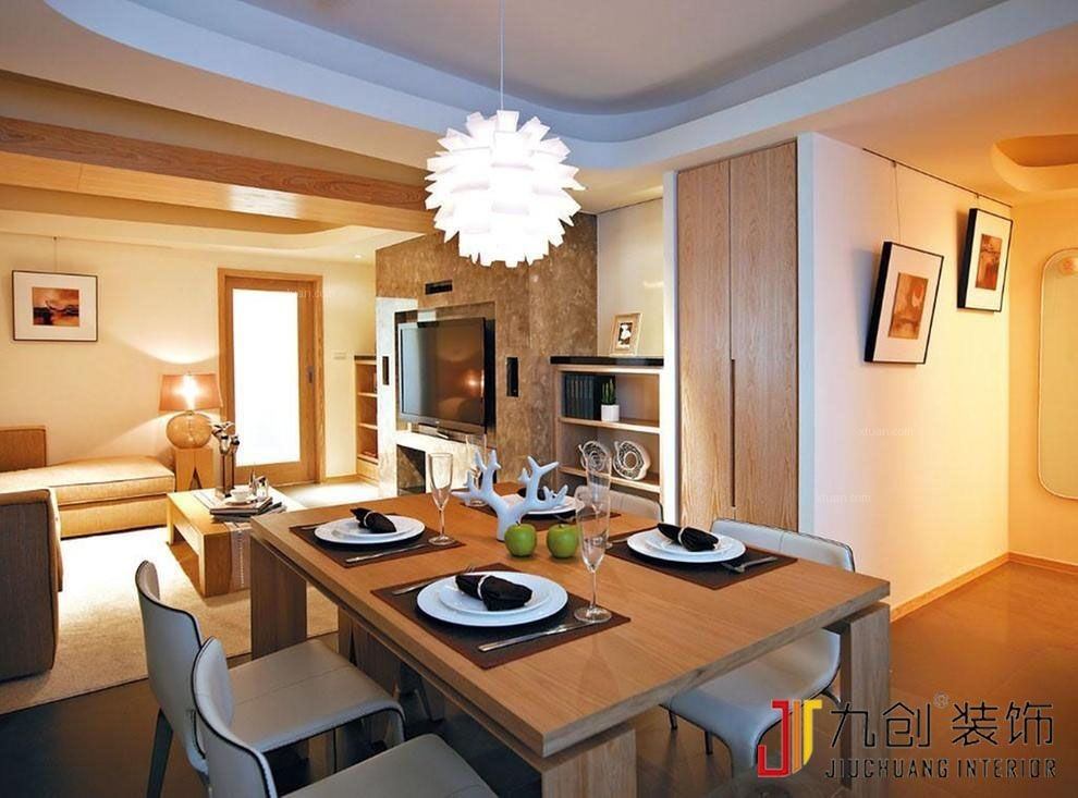 两居室日式风格餐厅照片墙