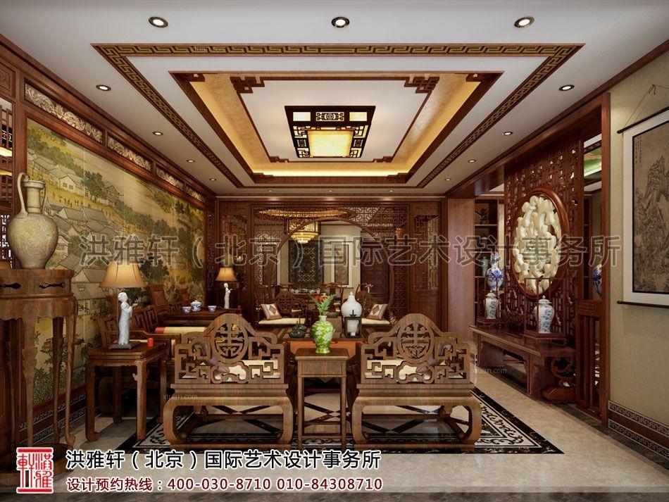 秦皇岛别墅古典中式装修设计案例