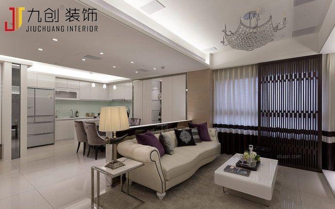两室两厅韩式风格客厅沙发背景墙
