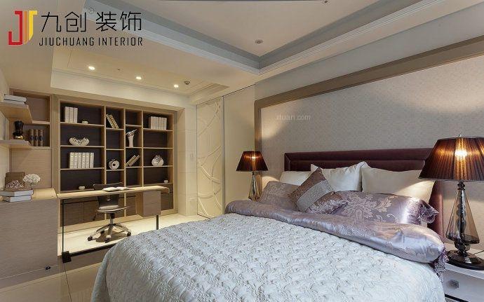 两室两厅韩式风格卧室卧室背景墙