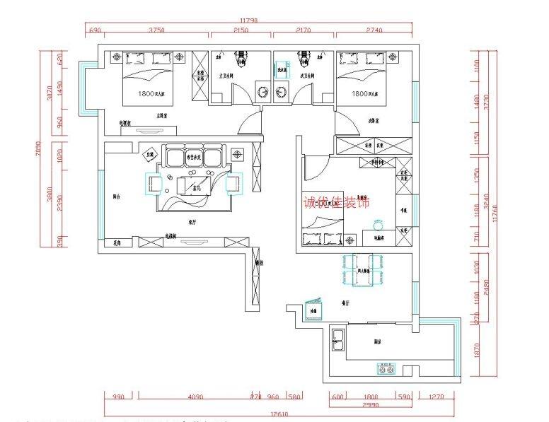 两居室现代简约交换空间
