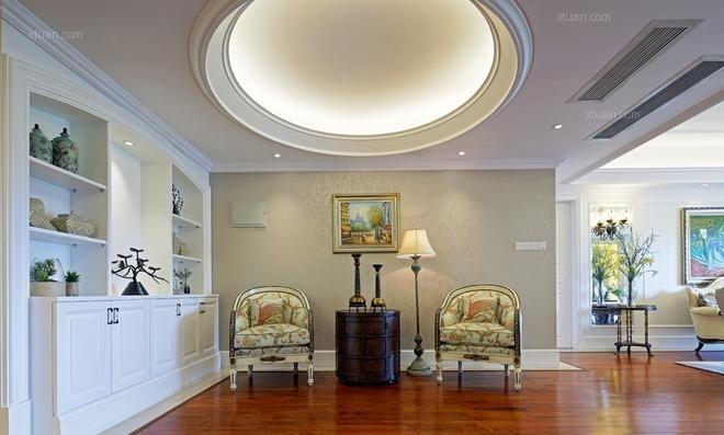 三居室中式风格休闲区