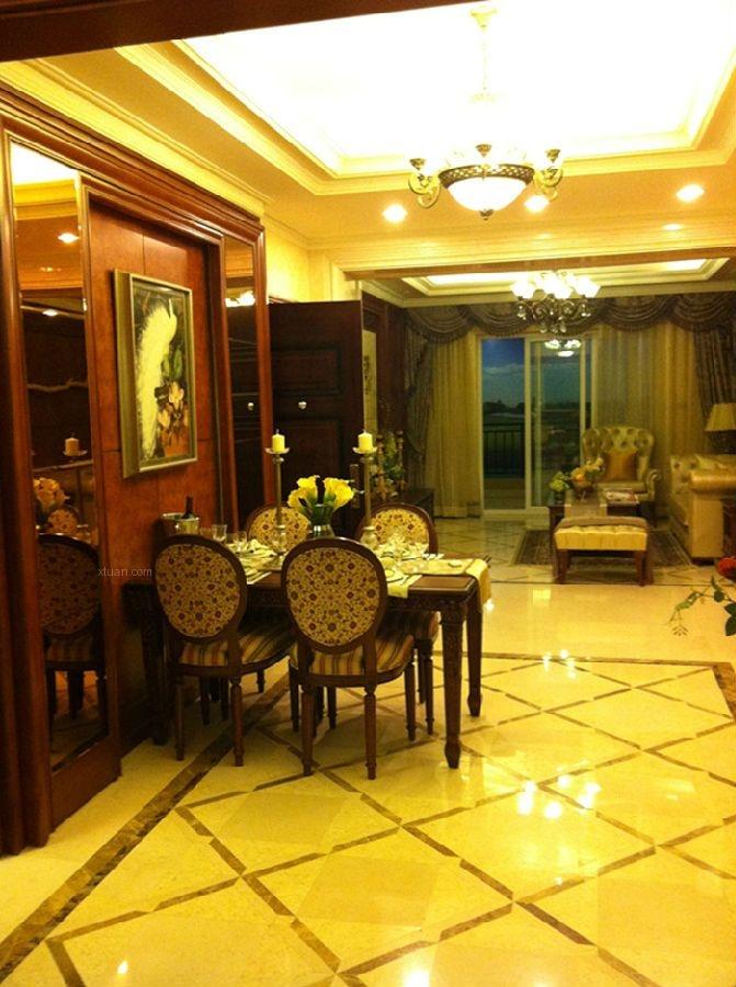两居室古典风格餐厅地台