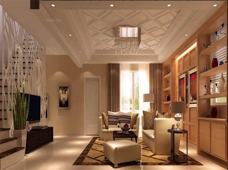 独栋别墅现代简约客厅