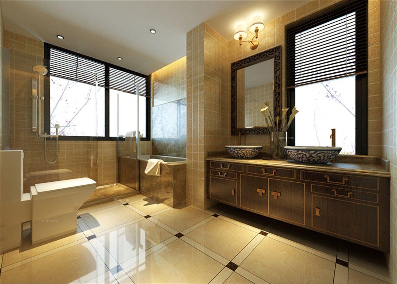 中式别墅卫生间设计分享展示图片