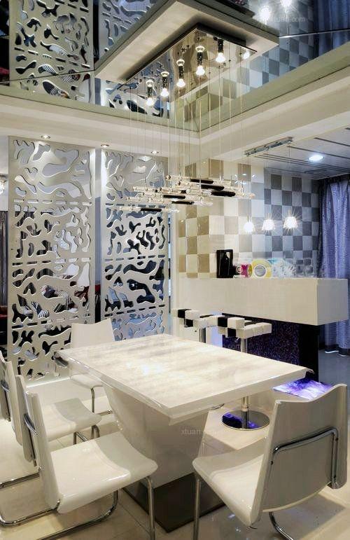 三居室现代简约餐厅地台
