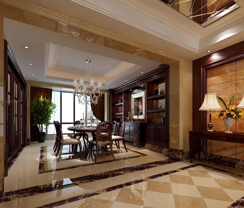 两室两厅简欧风格客厅照片墙