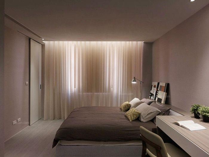 大户型现代简约卧室卧室背景墙