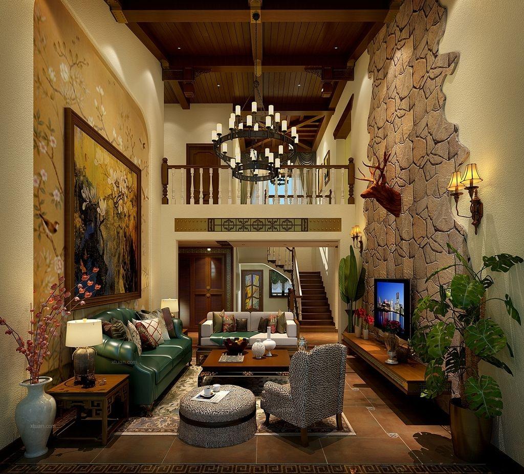 别墅混搭风格客厅