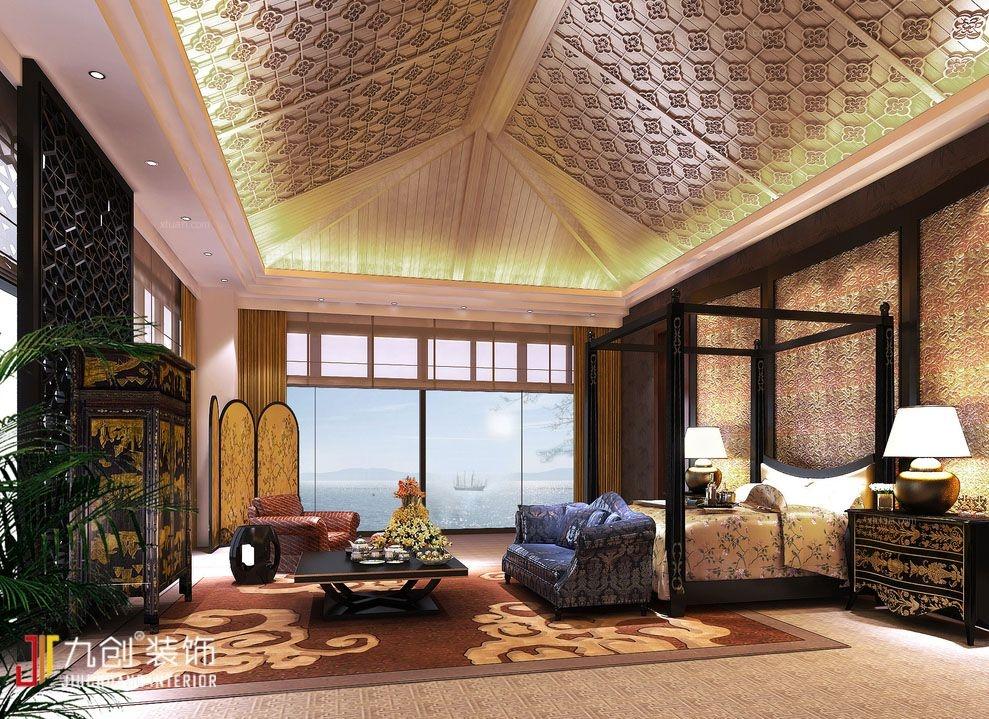 中式风格酒店_度假酒店装修效果图-x团装修网图片