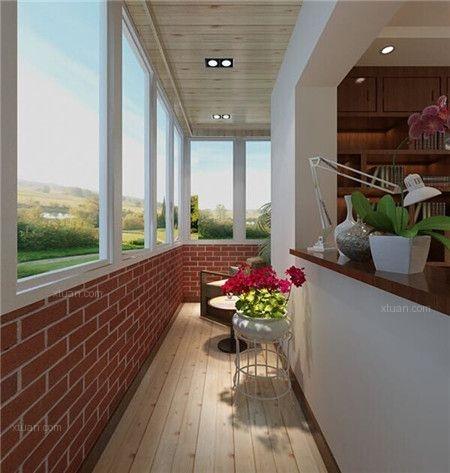 两居室混搭风格阳台地台