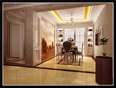 三居室欧式风格客厅地台