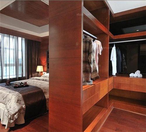 两居室中式风格卧室卧室背景墙