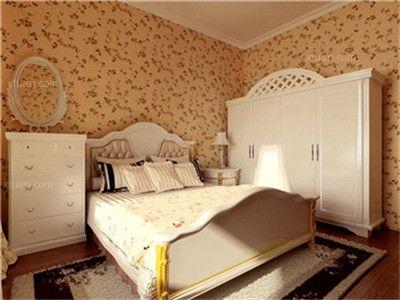 两居室田园风格卧室卧室背景墙