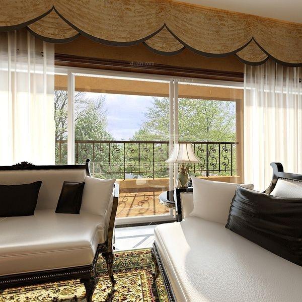 大户型古典风格客厅沙发背景墙