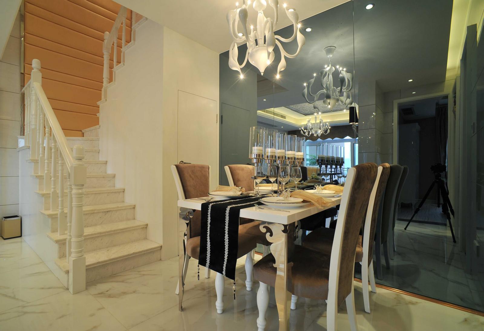 复式楼欧式风格餐厅_100平跃层装修效果图-x团装修网