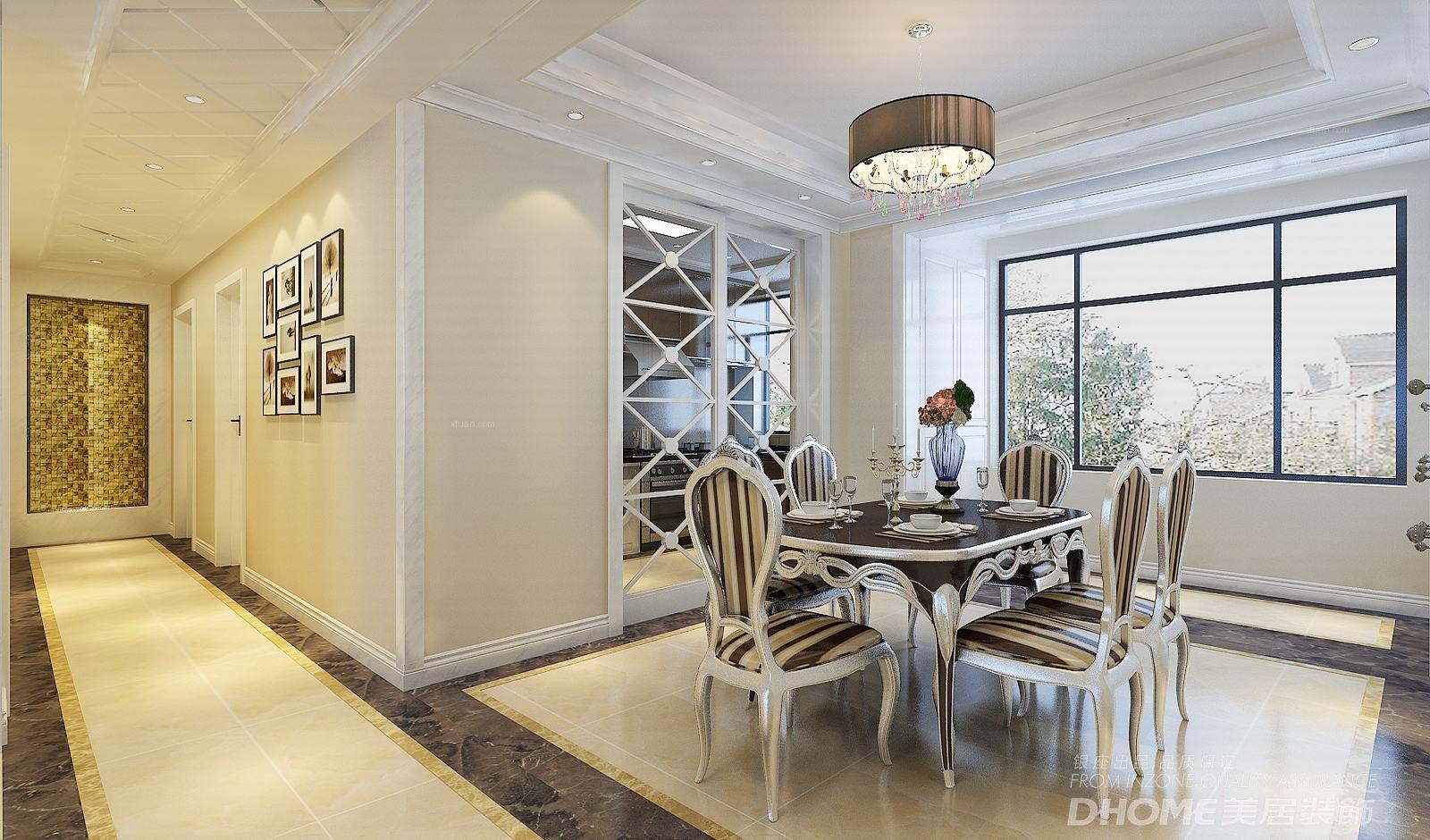 大户型简欧风格客厅软装_保利大明湖现代新古典220平图片