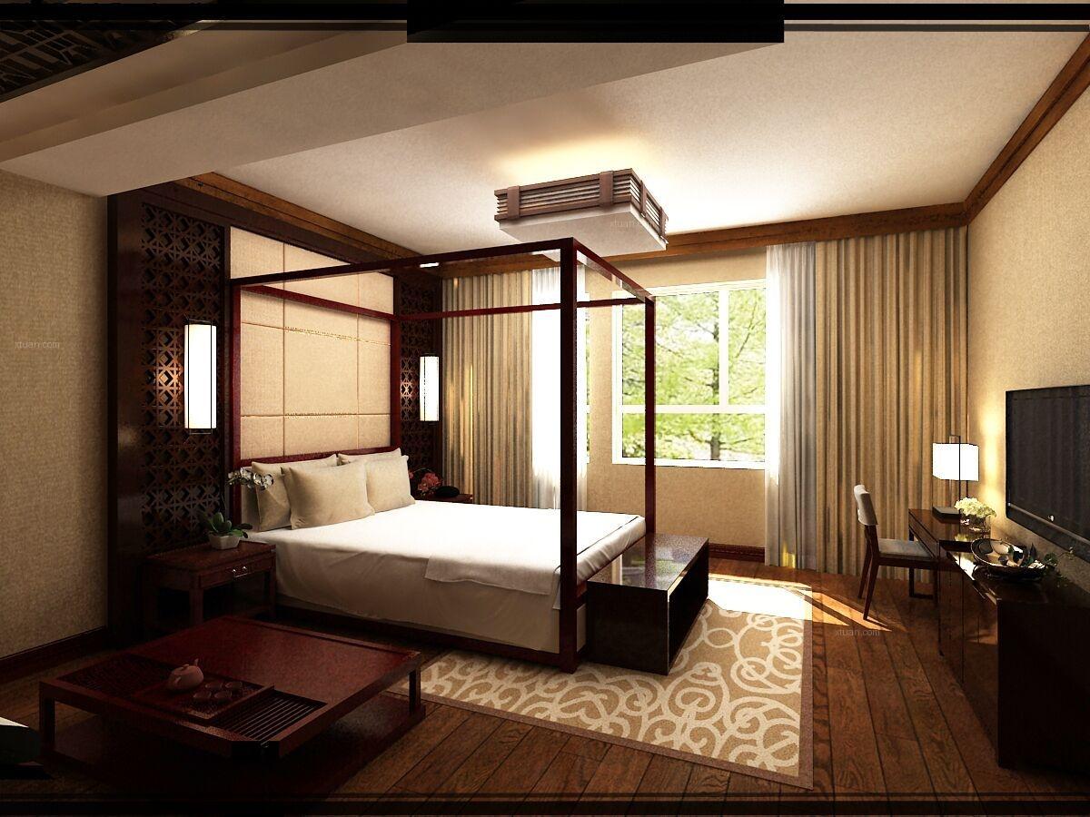 别墅中式风格小卧室图片