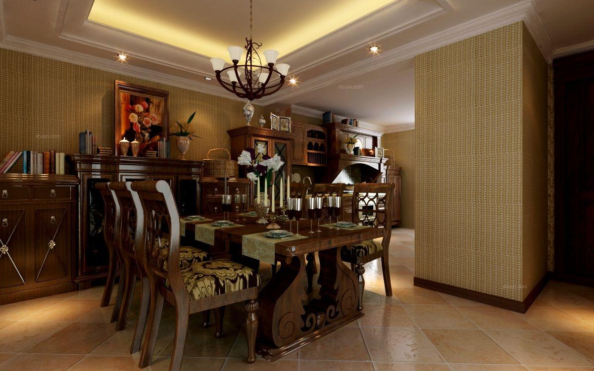 三居室中式风格餐厅地台