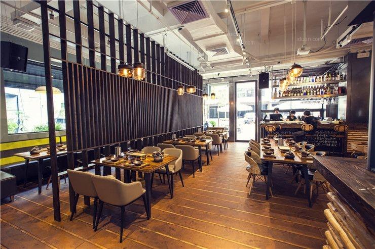 【餐飲空間設計】珠海900°燒烤店空間設計裝修效果圖