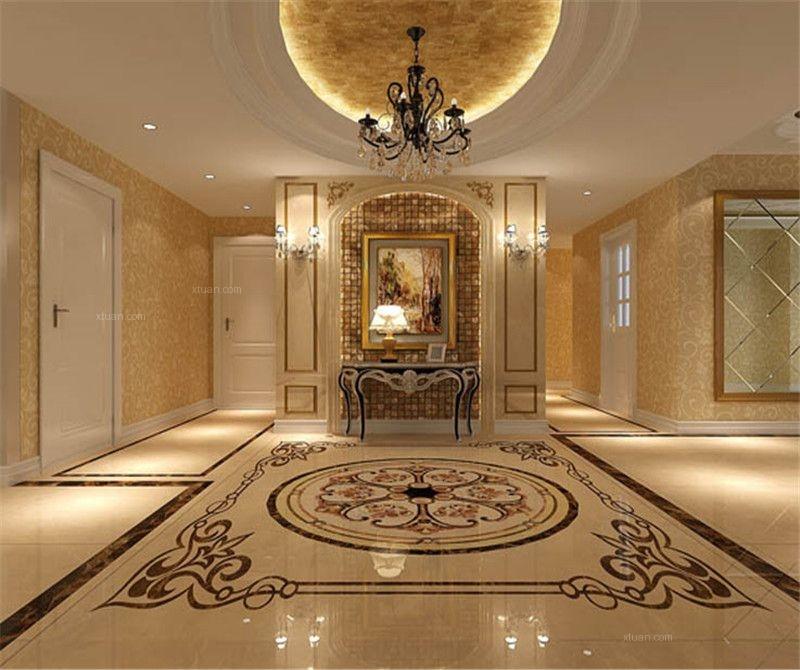 四居室欧式风格玄关_华侨城200平米欧式风格装修效果