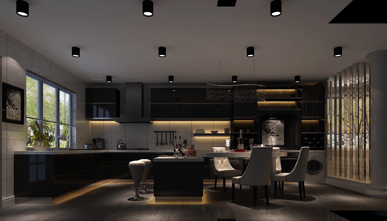 别墅现代风格餐厅厨具