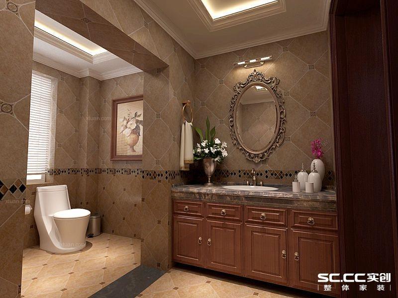 四居室美式风格卫生间软装