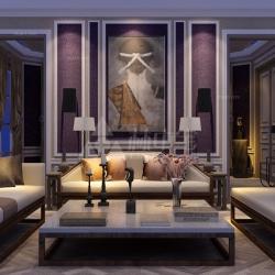 欧式浪漫客厅设计