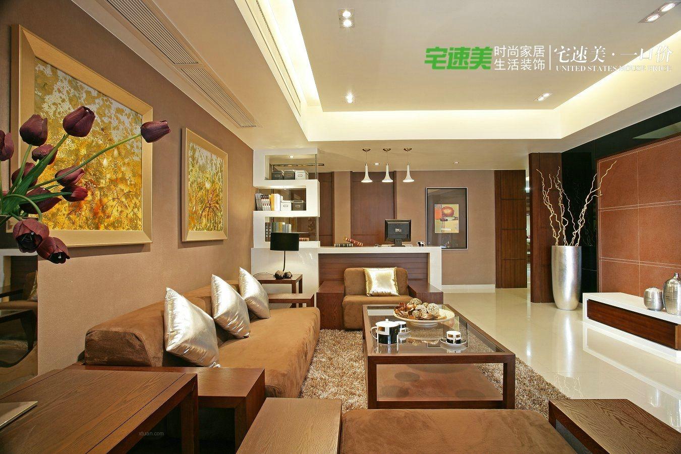 四居室中式风格客厅圆形吊顶