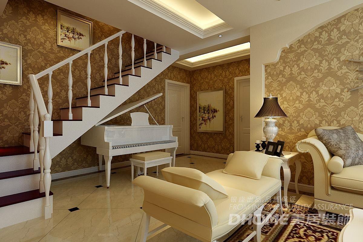 复式楼欧式风格客厅软装