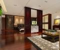 济南丽水华亭330平别墅新中式风格装修设计案例