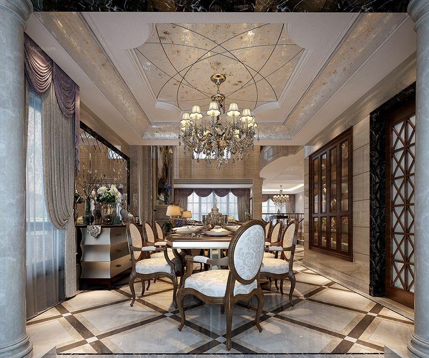 别墅简欧风格客厅软装