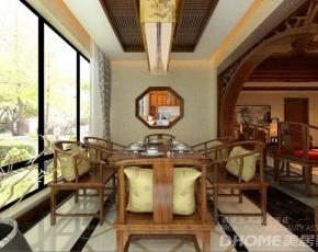 济南山水泉城218平五居室中式古典风格装修设计案例
