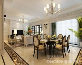 济南海尔绿城玫瑰园300平别墅法式风格装修设计案例
