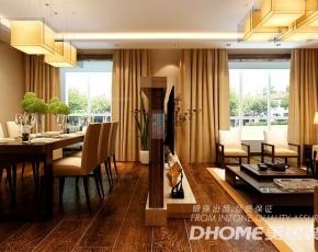 济南银丰花园230平顶层复式现代中式风格装修设计案例
