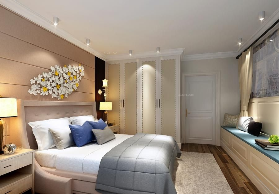 四居室混搭风格卧室软装