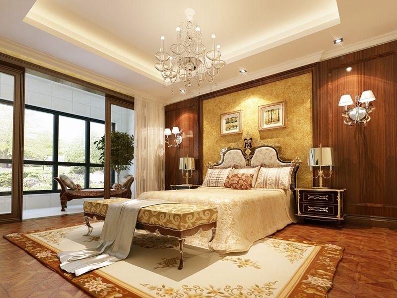 三居室欧式风格卧室_温馨感人欧式风装修效果图-x团