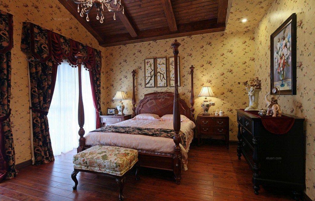 联排别墅美式风格主卧室图片