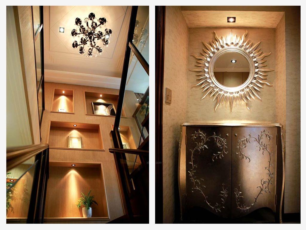 别墅欧式风格玄关墙绘图片