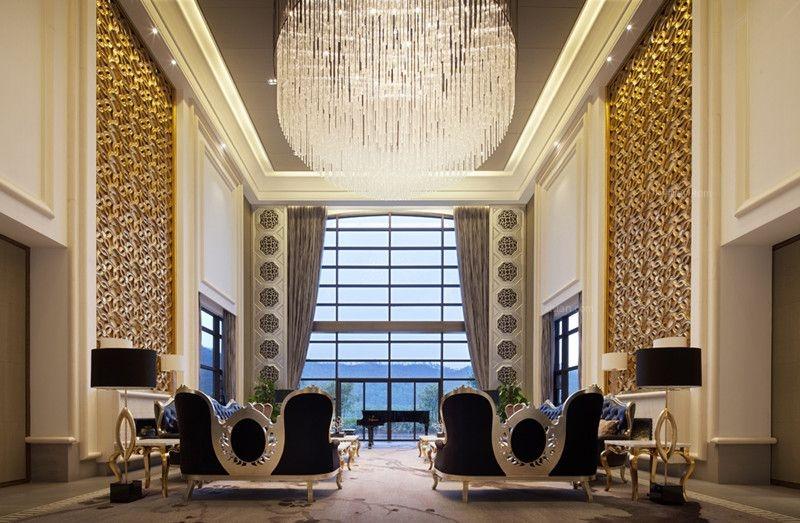 别墅欧式风格客厅_惠州高尔夫别墅样板房设计装修效果