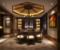 欣赏别墅新中式设计效果 品味时尚家居----[四合茗苑](图