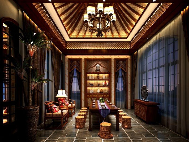 别墅中式风格休闲区