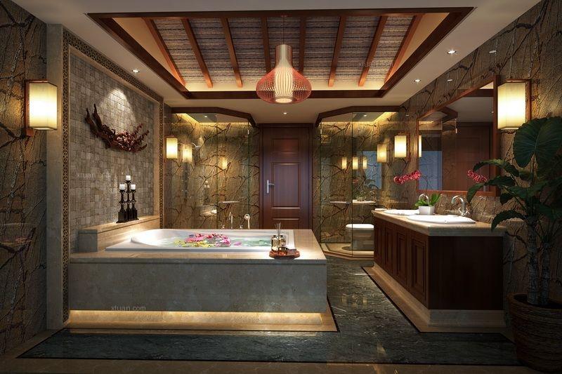 别墅中式风格洗手间
