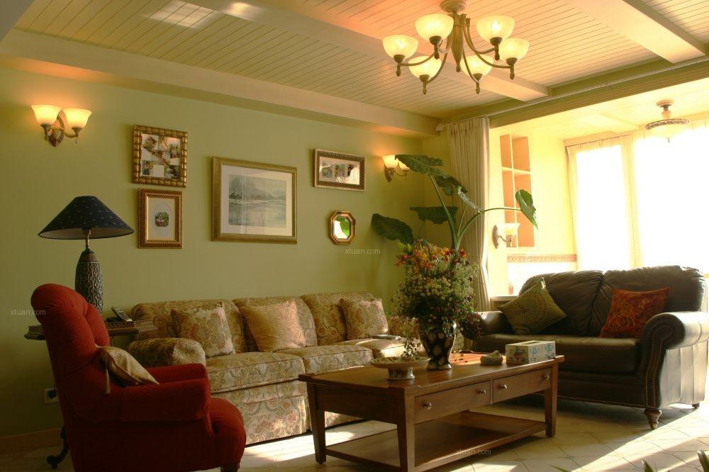 两室两厅田园风格客厅
