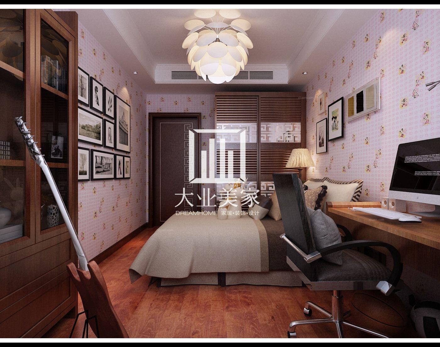三室两厅中式风格卧室软装图片