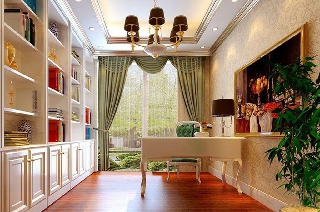 三居室欧式风格书房隐形门图片