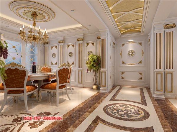 四居室法式风格餐厅圆形吊顶