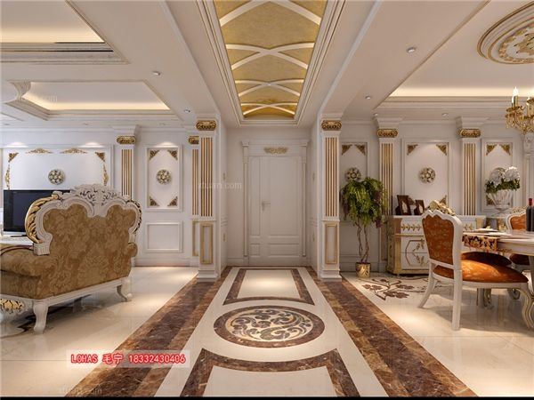 祥云国际四室两厅装修效果图